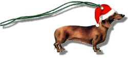 Christmas Assortment Grab Bag Of 159 Pieces Dachshund Smooth Red Tags Stickers