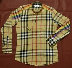 Brand New With Tags Men#x27;s BURBERRY Long Sleeve Slim Fit Shirt $64.90