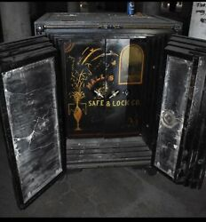 Antique Four Door Safe Halls Safe And Lock Co. On Wheels 40x32x55 Tall