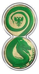 Germania 2020 2x5 Mark - Fafnir Set - Space Red And Green - 2 X 1 Oz Silver Coins