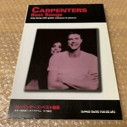 Used Books Carpenters Best Songs Guitar-playing Talk Diagram With Tablature