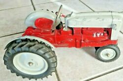 1950and039s Red Belly Original Die Cast Hubley Ford 960 1/10 Scale Kiddie Toy Tractor