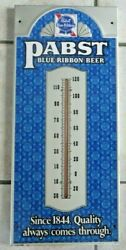 Vintage Working Since 1855 Pbr Pabst Blue Ribbon Beer Thermometer