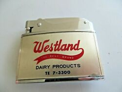 Flat Advertising Lighter, Westland Dairy Products,brother,japan,milk Brand