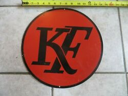 Kaiser Frazer Automobiles Painted Aluminum 1940and039s 14 Inch Company Sign Kf