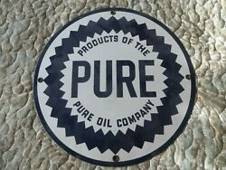 Products Of The Pure Oil Company Porcelain Sign