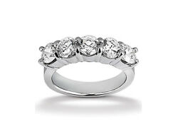 2.00ct Diamond Wedding Band Ring Solid 950 Platinum Round I Si2 Channel Setting