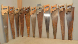 11 Antique Hand Saws For Starburst Art Project Collectible Parts Repair Lot S2