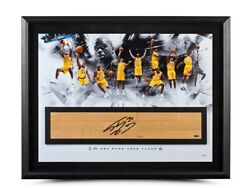 Shaquille Oand039neal Autographed 36x24 Framed Photo Floor Big Aristotle /34 Uda