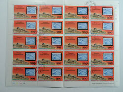 Discount Stamps Central Africa 1977 C186 Zepplin Stamp On Stamp Cto F/sheet