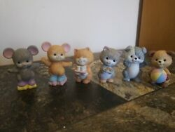 Lot Of 6 Vintage 1992 Avon Collectibles Ceramic Animals Mice Cats Bear Figurines