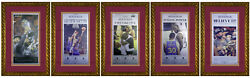 2016 Cleveland Cavaliers Lebron James Nba Finals Championship Newspapers Framed