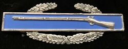 Vintage Sterling Silver World War Ii Military Combat Infantry Army Rifle Badge P