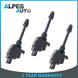3pcs Ignition Coils For 2000-2001 Nissan Maxima Infiniti I30 3.0l Replace Uf-348