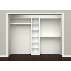 Closetmaid Spacecreations 44-inch To 115-inch Closet White