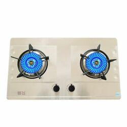 Gas Stove Table Embedded Stainless Steel Brushed Dual Purposes Stoves Cookers