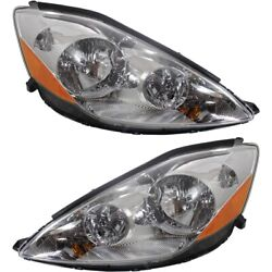 Headlight Set For 2006-2010 Toyota Sienna Left And Right Hid With Bulb 2pc