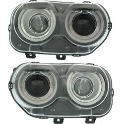 Ch2503267, Ch2502267 New Headlight Lamp Driver And Passenger Side Lh Rh For Dodge