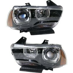 Capa Headlight For 2011-2014 Dodge Charger Driver And Passenger Side