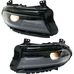 Headlight For 2016-2018 Dodge Charger Driver And Passenger Side