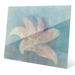 Lilly On Sky' Multicolored Glass Wall Graphic Multi Small