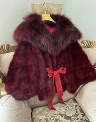 Sable And Mink Coat Real Fur