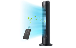 Tower Fan, Dreo 90° Oscillating Fans With Remote, Quiet Cooling,12 Modes, 12h Ti