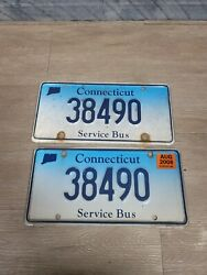 Ct Service Bus License Plate Pair Nice A1