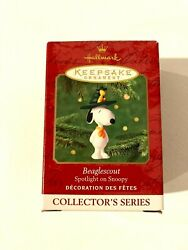 PEANUTS SNOOPY BEAGLE SCOUT OUTDOORS HIKING COLLECTORS SERIES HALLMARK ORNAMENT