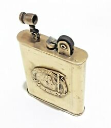 Antique Trench Art Lighter Brass Tax Stamp Ww1 Poilus Military Very Rare