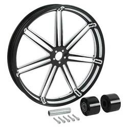 Front Wheel Rim Hub Set Fit For Harley Touring 08-up 18/21/23/26/30and039and039 Dual Disc