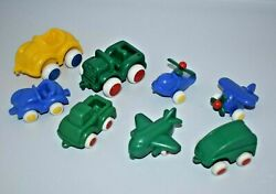 Vintage Viking Toy Vehicles Cars Trucks Airplanes Helicopters Yellow Blue Green