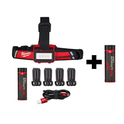 Milwaukee Headlamp Led Usb Rechargeable High-low Switch Charging Cable Batteries