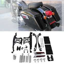 One Touch Opening Saddlebag Latch Lids Hardware Cover Hinge Fit For Harley 14-21