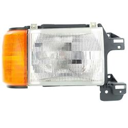 Halogen Headlight For 1987-1991 Ford F-150 Right W/ Bulb And Side Marker Lamp