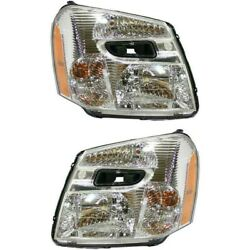 Halogen Headlight Set For 2005-2009 Chevy Equinox Left And Right W/bulbs Pair Capa