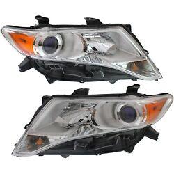 Headlight Set For 2009-2012 Toyota Venza Left And Right Hid With Bulb 2pc