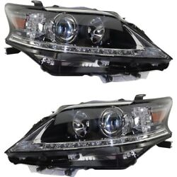 Headlight Set For 2013 2014 2015 Lexus Rx350 Left And Right Capa 2pc