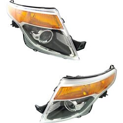 New Hid Headlight Lamp Driver And Passenger Side Hid/xenon Fo2519127 Fo2518127