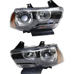 Headlight For 2011-2014 Dodge Charger Pair Driver And Passenger Side