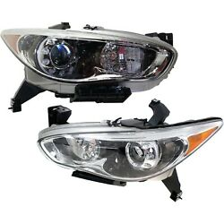 Headlight For 2014-2015 Infiniti Qx60 Pair Driver And Passenger Side