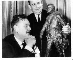 A Statue Of Sir Winston Churchill In New York. - Vintage Photograph 2309885