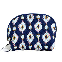 Dabney Lee Quilted Ikat Cosmetic Bag Large 8quot; Travel Zip Pouch Makeup Designer $29.95
