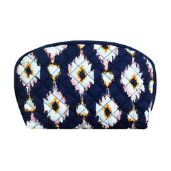 Dabney Lee Quilted Ikat Cosmetic Bag Large 7quot; Double Zip Travel Pouch Makeup $31.95