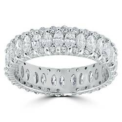 Womenand039s 2 5/8ct Marquise Diamond Eternity Ring 14k White Gold
