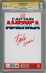 Captain America 1 Blank Cgc 9.8 Signature Series Signed Stan Lee Excelsior
