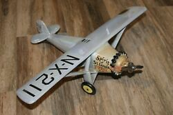 Rare Vintage 1972 Rem Spirit Of St Louis Airplane Decanter 22 Wing Span Beauty