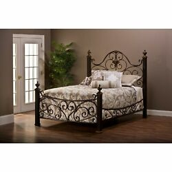 Mikelson Aged Antique Goldtone Bed Gold