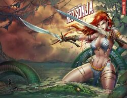 Invincible Red Sonja 2 Tyndall Wrap Trade Variant Cover Lim/250 Signed/cert Nm