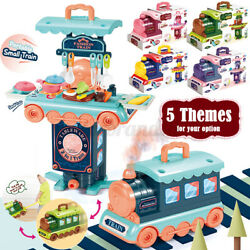 2 In 1 Train Tool/kitchen/makeup/dessert/medical Playset Pretend Play Toy New